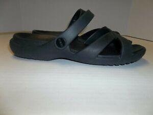 Womens Size 8 Crocs Convertible Slide/Slingback Sandals Black