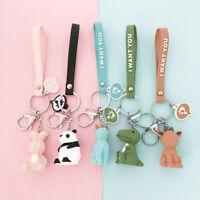 Fashion Cute Dinosaur Keychain Key Ring Cartoon Key Chain Creative Key Ring