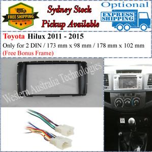 Harness + Fascia facia Fits Toyota Hilux 2011+ Double Two 2 DIN Dash Kit*