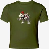 Nintendo Super Mario Bros Bowser Bones Men Women Video Game Unisex Top T-Shirt