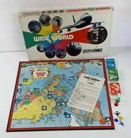 Vintage Parker Brothers Wide World Air Travel Board Game Incomplete Replacement