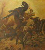 Antique Royal Academy of Art Museum Original WW1 Oil Painting F. Matamo RA 1918