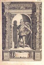 Franciscus Verdugo- Incisione originale G.B. Fontana, D. Custos 1600