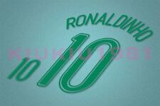 Brazil Ronaldinho #10 World Cup 2006 Homekit Nameset Printing