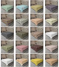 Ambesonne Autumn Fall Flat Sheet Top Sheet Decorative Bedding 6 Sizes