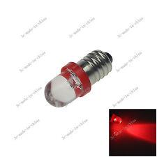 1X Red 1 In line LED E10 1447 style CAR Bulb Light for DIY LIONEL 6V - 12V 20088