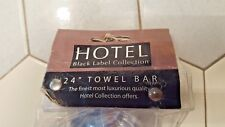 "Hotel Black Label Collection 24"" Towel Bar NEW in Packaging"
