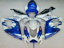 Fairing Plastic Fit for Suzuki GSXR 600 750 K6 06-07 Blue White Injection Mold #