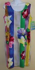 New JAMS WORLD ~ Sz L Abstract Floral Art-to-Wear Hawaiian Sun Dress