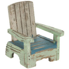 Mini Rustic Wood Beach Chair. Cute Home Accent.
