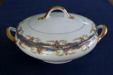Vignaud St. Quentin – ROUND COVERED VEGETABLE DISH - Limoges France