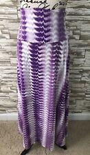 Lularoe Maxi Skirt Nwt 2XL Stretchy Beautiful Purple Tie Dye Print New 2019