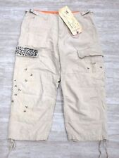 NEW Da-Nang Surplus Women's Capris Embroidered MASTIC RSS655629S1 X-SMALL XS