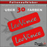 2er SET - LEO VINCE Sponsoren-Folienaufkleber Auto/Motorrad - 30 Farben - 24cm