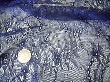 Scalloped lace-chains e flowers-navy-dress fabric-free P&P