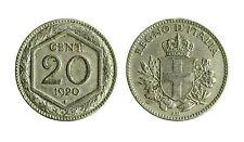 pcc1562_2) Vittorio Emanuele III  (1901-1943) 20 Cent Esagono 1920