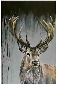 Dark Stag Giclee print, from my original painting, limited edition,wall art