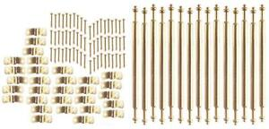Melody Jane Dolls House Miniature Staircase Runner Carpet 15 Brass Stair Rods