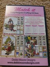 00179 Debbi Moore Party Penguins Crafting CD ROM Match It