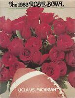 Rose Bowl Game 1983  Program-UCLA VS.MICHIGAN