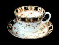 Beautiful Melba Hand Painted Imari Breakfast Cup And Saucer