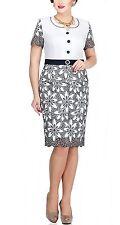 Geblümte knielange Damen-Anzüge & -Kombinationen mit Jacket/Blazer