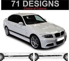 BMW SERIE 3 BMW 316 318 320 323 325 328 330 335 decalcomanie STRISCE LATERALI
