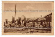 Pinsk Belarus postcard Zerstörte Fabrik an der Pina (217)