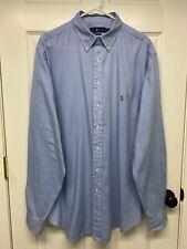 Ralph Lauren Polo Men's Tall L/S Chambray Oxford Button-Down Shirt: XLT, Blue