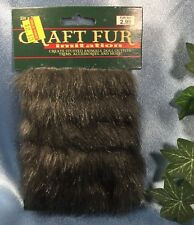 "New Nicole International Craft Faux Fur: Shimmery Grey. 2"" X 30"". Clean. #847"