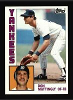 1984 Topps Don Mattingly RC Baseball Card #8 New York Yankees HOF