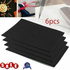 6pcs Black Felt Fabric Adhesive Sheets Multipurpose Sticky Glue Velvet Sheet