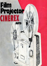 CINEREX 707 8mm Cine Projector Instructions Pamphlet
