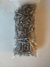 "#8 x 1"" Stainless Steel Sheet Metal Screws - Qty:500 - Lot# 676"