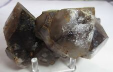 Large Double-Terminated Smoky Quartz Specimen from Arkansas - 994 grams
