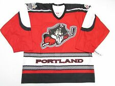 PORTLAND PIRATES AUTHENTIC RED AHL TEAM ISSUED REEBOK 6100 JERSEY SIZE 54