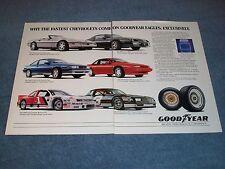 1988 Goodyear Tires Ad Dale Earnhardt Monte Carlo Corvette Camaro IROC-Z IMSA