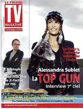 TV MAGAZINE n°20641 11/12/2010  Alessandra Sublet/ Christophe Willem/ Ardisson