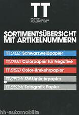 Prospectus tetenal tt photo papier 80er J. photographic paper papier photo LABORATOIRE