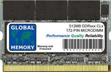 512MB DDR 266/333MHz 172-pin Microdimm pour Ordinateurs Portables/Carnets
