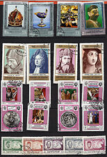 18T5 Yemen 21 stamps mint The Pope,history of France,builders and various