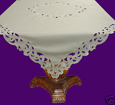 Victoria Embroidered  & Cutwork Tablecloth 135 x 135cm