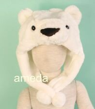 POLAR BEAR URSUS MARITIMUS COSTUME WHITE HAT CAP MASK HALLOWEEN XMAS FANCY Y026
