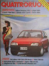 Quattroruote 377 1987 Anteprima: R5, super Golf, Lancia Tipo Due, Rover 600