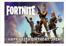 FORTNITE D2 PERSONALISED A4 ICING CAKE TOPPER plus FREE GIFT and FREE POSTAGE
