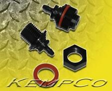 """(2) 1/8"""" Hose Barb Nylon Thru-Panel Straight Adapter Fitting w/ Nut and Washer"""