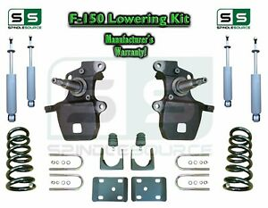 "1997 - 2003 Ford F-150 F150 V6 2WD 4"" / 6"" Drop Lowering Kit Coils Axle + SHOCKS"