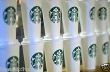 STARBUCKS REUSABLE 16 OZ PLASTIC CUP  LID TUMBLER ONE PER ORDER SIREN CAFE CUP