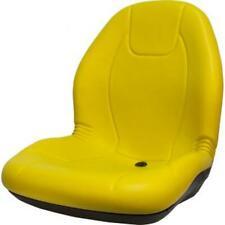 Seq90 0542 Yellow Vinyl High Back Seat Fits John Deere X485 X495 X590 X720 X724