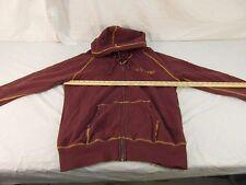 Adult Men's US Army Maroon Yellow Full Zipper Soft Hoodie Sweater Nice 30329